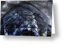 The Gherkin - Neckbreaker View Greeting Card by Yhun Suarez