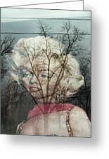 The Ghost Of Norma Jean Greeting Card by Todd Sherlock