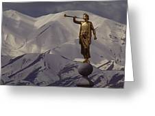 The Gilded Statue Of The Angel Moroni Greeting Card by James P. Blair