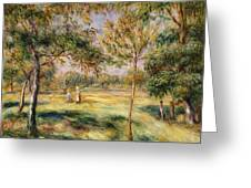 The Glade Greeting Card by Pierre Auguste Renoir