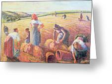The Gleaners Greeting Card by Camille Pissarro