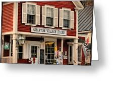 The Grafton Vermont Village Store Greeting Card by Thomas Schoeller