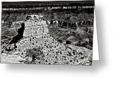The Grand Canyon Bw Greeting Card by  Bob and Nadine Johnston