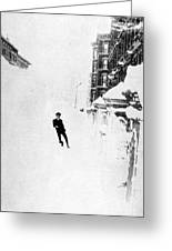 The Great Blizzard, Nyc, 1888 Greeting Card by Science Source