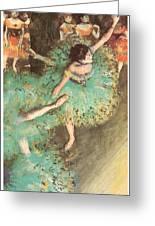 The Green Dancer Greeting Card by Edgar Degas