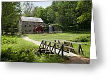 The Grist Mill Greeting Card by Lee Fortier
