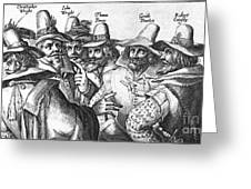 The Gunpowder Rebellion, 1605 Greeting Card by Photo Researchers