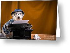 The Hard Boiled Journalist Greeting Card by Edward Fielding