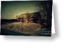 The Hiding Barn Greeting Card by Joel Witmeyer