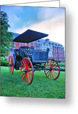 The Homestead Carriage II Greeting Card by Steven Ainsworth