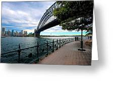 The Iconic Sydney Harbour Bridge Greeting Card by Boyd Nesbitt