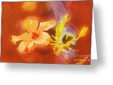 The iris flower Greeting Card by Odon Czintos