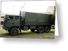 The Iveco M250 8 Ton Truck Used Greeting Card by Luc De Jaeger