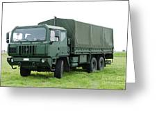 The Iveco M250 Used By The Belgian Army Greeting Card by Luc De Jaeger
