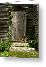 The Ivied Door Greeting Card by Theresa Willingham