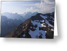 The Jagged Tops Of High Mountain Peaks Greeting Card by Taylor S. Kennedy