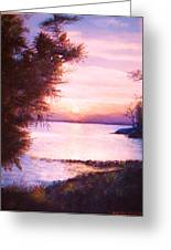 The James River At Twilight Greeting Card by Anne-Elizabeth Whiteway