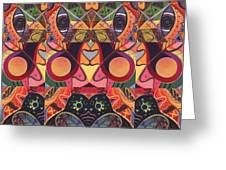 The Joy Of Design Series Guardians Greeting Card by Helena Tiainen