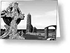 The Keltic Cross Greeting Card by Zarija Pavikevik