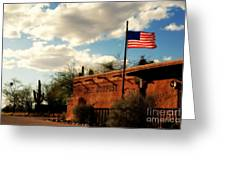 The Last Outpost Old Tuscon Arizona Greeting Card by Susanne Van Hulst