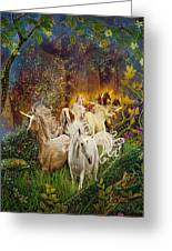 The Last Unicorns Greeting Card by Steve Roberts