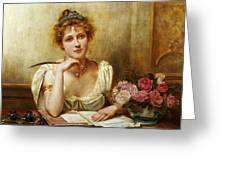 The Letter Greeting Card by George Goodwin Kilbourne