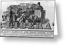The Liberator Masthead Greeting Card by Photo Researchers