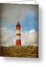 The Lighthouse Amrum Greeting Card by Angela Doelling AD DESIGN Photo and PhotoArt