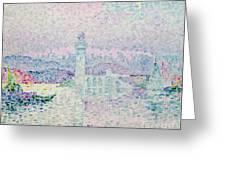 The Lighthouse at Antibes Greeting Card by Paul Signac