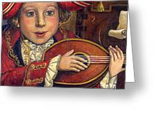 The Little Mozart.detail. Greeting Card by Victoria Francisco