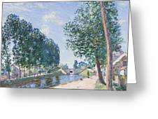 The Loing Canal At Moiret Greeting Card by Alfred Sisley