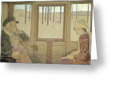 The Long Journey Greeting Card by Frederick Cayley Robinson