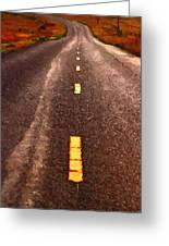 The Long Road Home . Painterly Style . Long Size Greeting Card by Wingsdomain Art and Photography