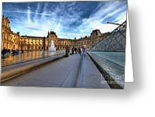 The Louvre Paris Greeting Card by Charuhas Images