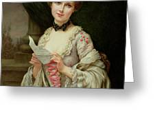 The Love Letter Greeting Card by Francois Martin-Kayel