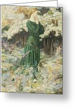 The Lover's World Greeting Card by Eleanor Fortescue-Brickdale