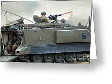 The M113 Tracked Infantry Vehicle Greeting Card by Luc De Jaeger