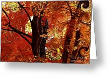 The Magic of Autumn - Digital Abstract Greeting Card by Carol Groenen