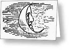 The Man In The Moon Greeting Card by Granger