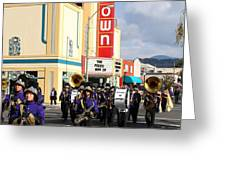 The Marching Band at The Uptown Theater in Napa California . 7D8925 Greeting Card by Wingsdomain Art and Photography
