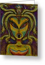 The Medusa Greeting Card by Russell Pierce