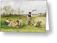 The Midday Rest Greeting Card by Franciszek Streitt