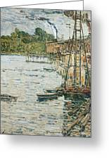 The Mill Pond Greeting Card by Childe Hassam