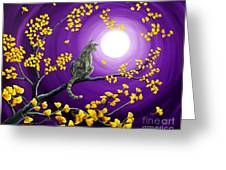 The Moon Shone Upon Me Greeting Card by Laura Iverson