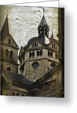 The Munsterkerk Roermond Greeting Card by Mary Machare