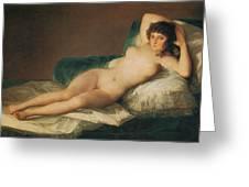 The Naked Maja Greeting Card by Francisco Goya
