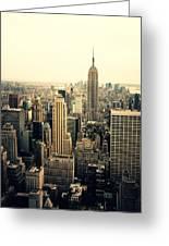 The New York City Skyline Greeting Card by Vivienne Gucwa