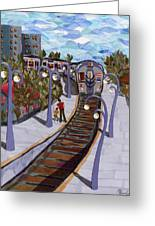 The Next Stop Is... Greeting Card by Marina Gershman