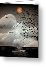 The Night Of The Blood Red Moon Greeting Card by Edwin Alverio