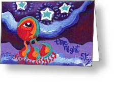 The Night Sky Greeting Card by Genevieve Esson